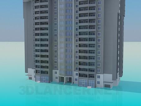 3d model Residential living block - preview