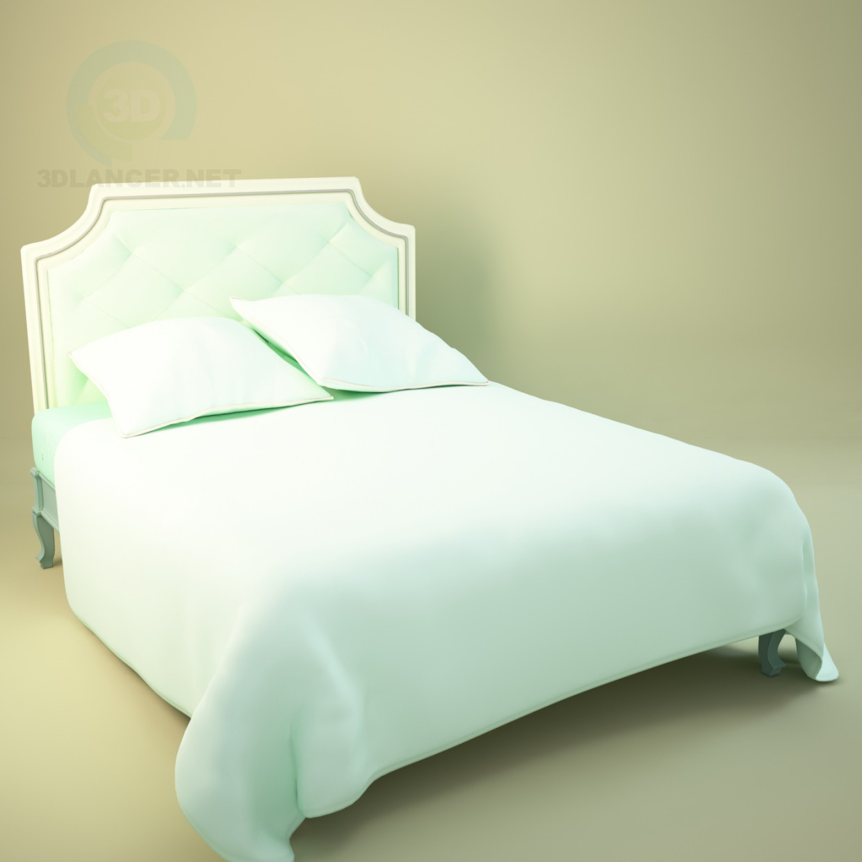 3d modeling classic bed model free download