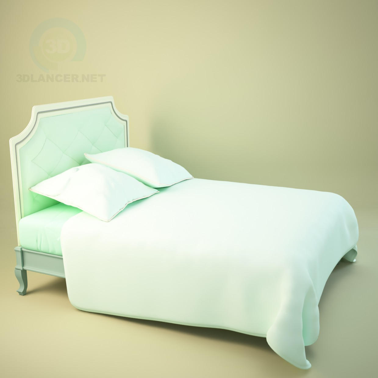 3d model Classic bed - preview