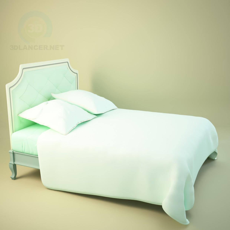 3d модель класична ліжко – превью