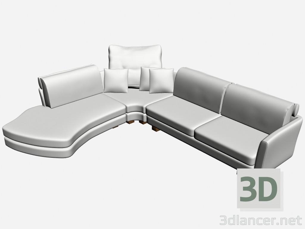 3d model sofa 2 metropol manufacturer il loft id 15712. Black Bedroom Furniture Sets. Home Design Ideas