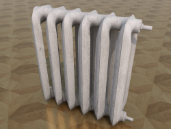 Battery (radiator) heating, painted cast iron.