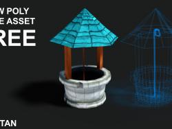 3D Kuyu düşük poli oyun elemanı