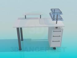 La mesa para el ordenador