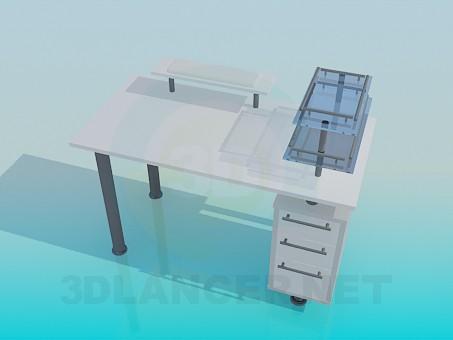 modelo 3D La mesa para el ordenador - escuchar