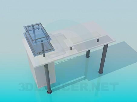 3d модель Стол под компютер – превью