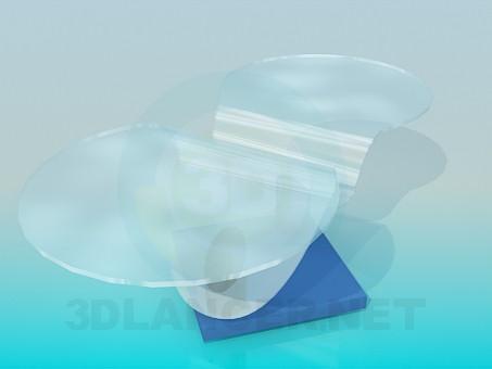 3d модель Столик с отдельными столешницами – превью