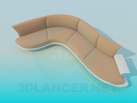 descarga gratuita de 3D modelado modelo Sofá con soporte curvo