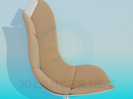 3d model Sofa with curved stand - preview