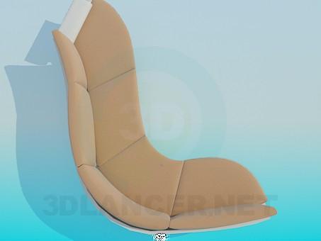 modelo 3D Sofá con soporte curvo - escuchar