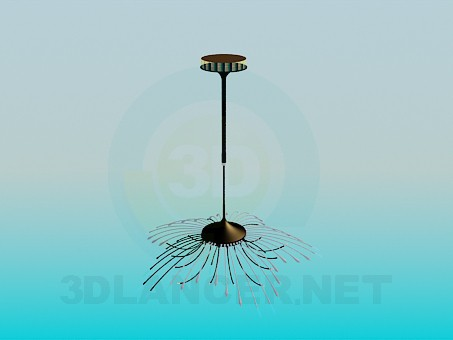 3d modeling Chandelier in the form of straw model free download