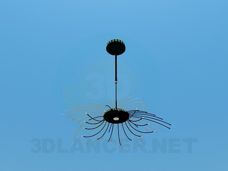 3d model Chandelier in the form of straw - preview