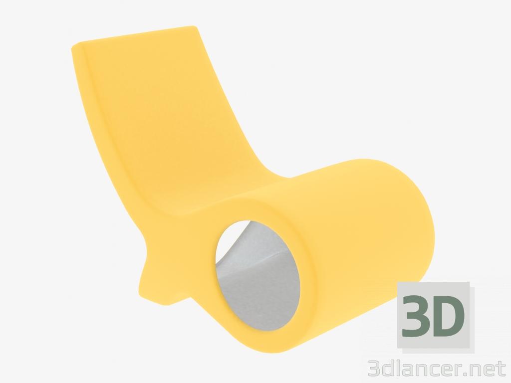 3D modeli Plastik sandalye Balık - önizleme