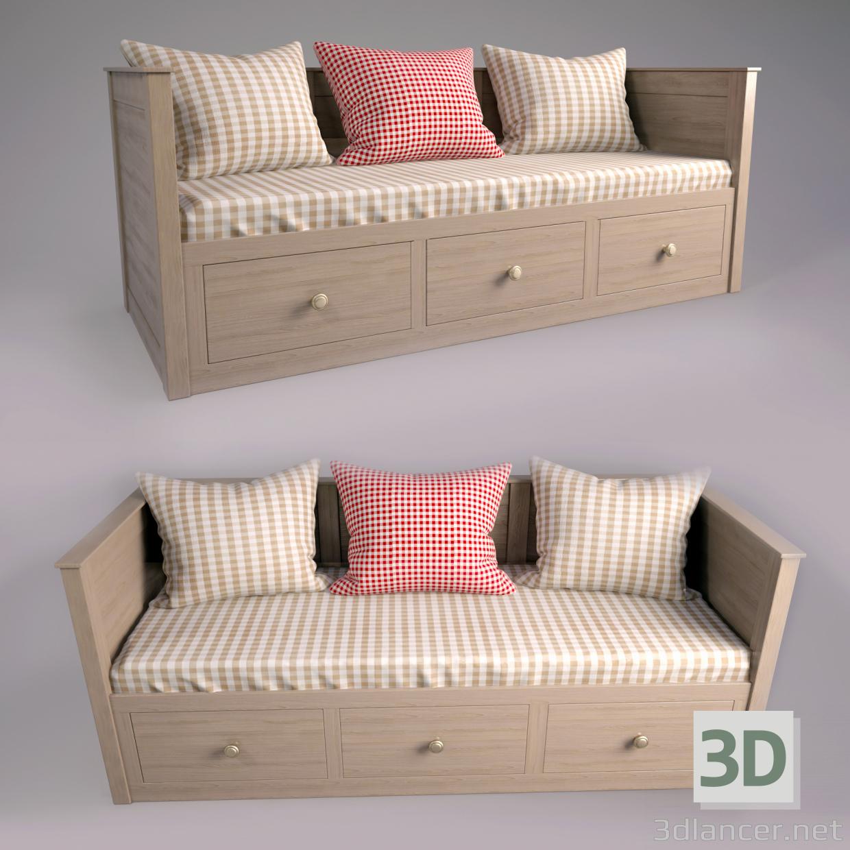3d модель Ліжко односпальне – превью