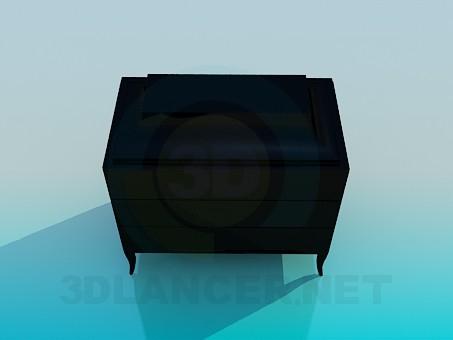 3d modeling Black dresser model free download