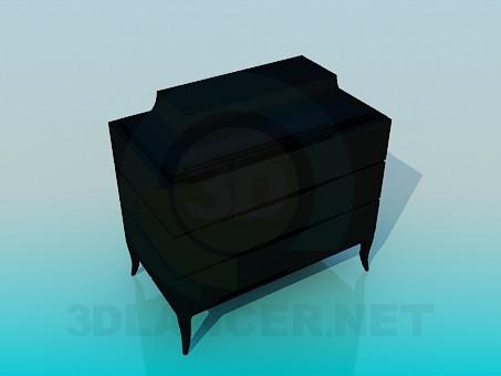 3d модель Черный комод – превью