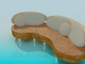 Semicircular सोफा