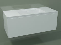 Washbasin with drawer (L 120, P 50, H 48 cm)