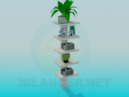 3d modeling Shelves for flower pots and souvenirs model free download