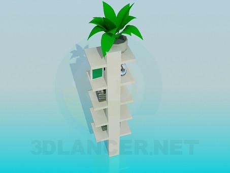 3d model Shelves for flower pots and souvenirs - preview