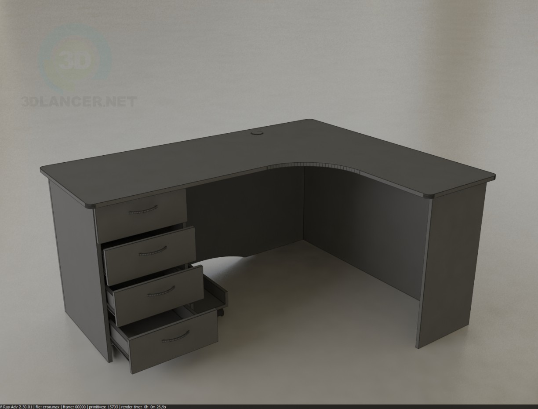 modello 3D Ufficio tavolo 1600х1300х750 - anteprima