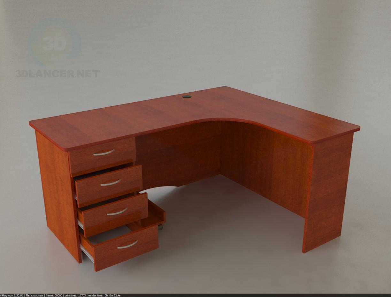 3d модель Стол офисный 1600х1300х750 – превью