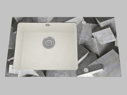 Washing glass-granite, 1 chamber with a wing for drying - Edge Diamond Capella (ZSC AB2C)