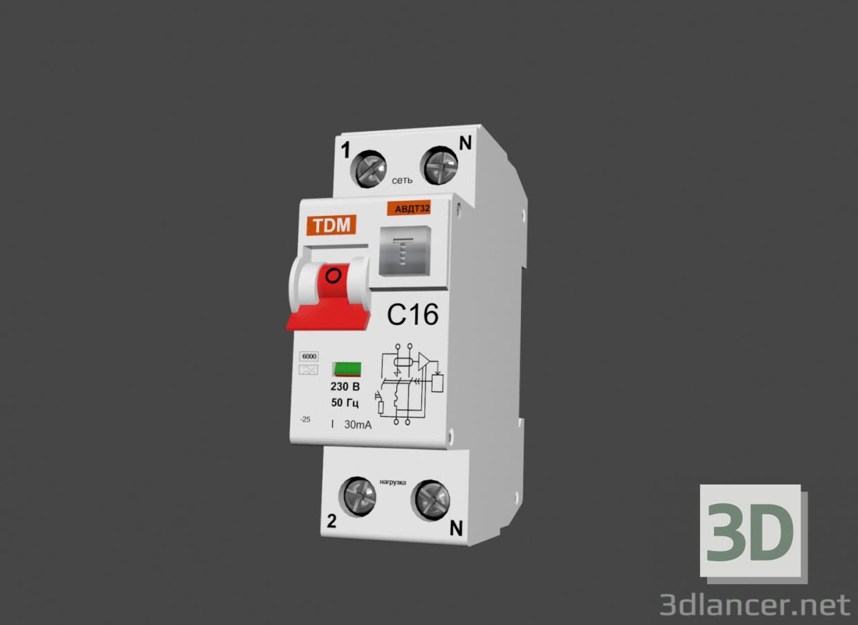 3d model differential circuit breaker - preview