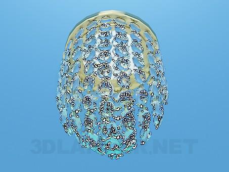 3d модель Невеликий світильник прикрашений прозорими намистинами – превью