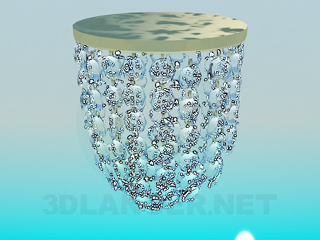3d model A small lamp decorated with transparent glass beads - preview