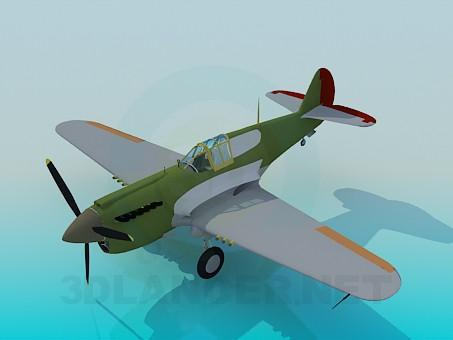 3d модель Легкий самолет – превью
