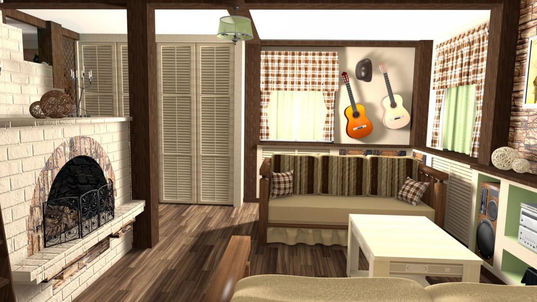 modelo 3D Sofá modelo popular no. 4, fábrica NAIRI - escuchar
