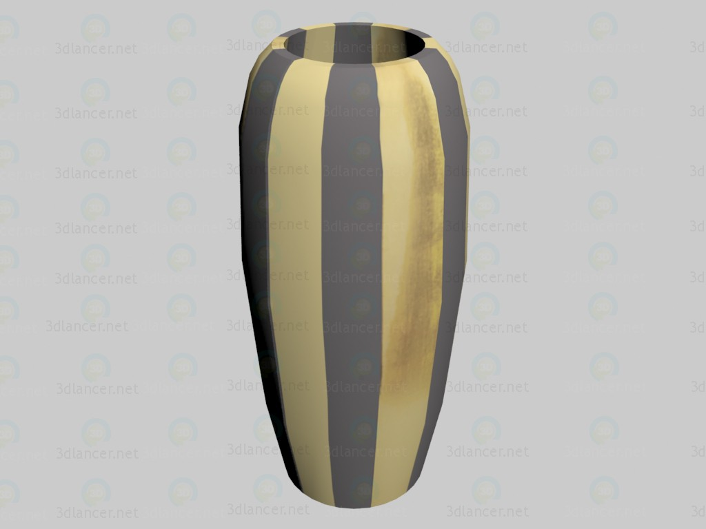3d model Vase Verso Gold (small) - preview