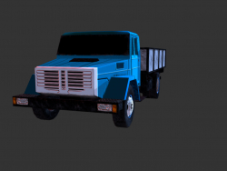 camion moderne low poly
