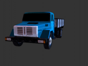 Modern low poly truck