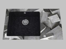 Fregadero de granito de vidrio, 1 cámara con un ala para secar - Edge Diamond Capella (ZSC GB2C)