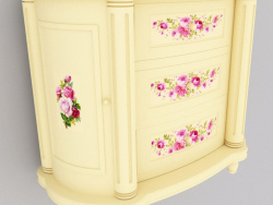 Provence style chest of drawers