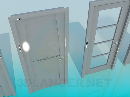3d model Doors with different design - preview