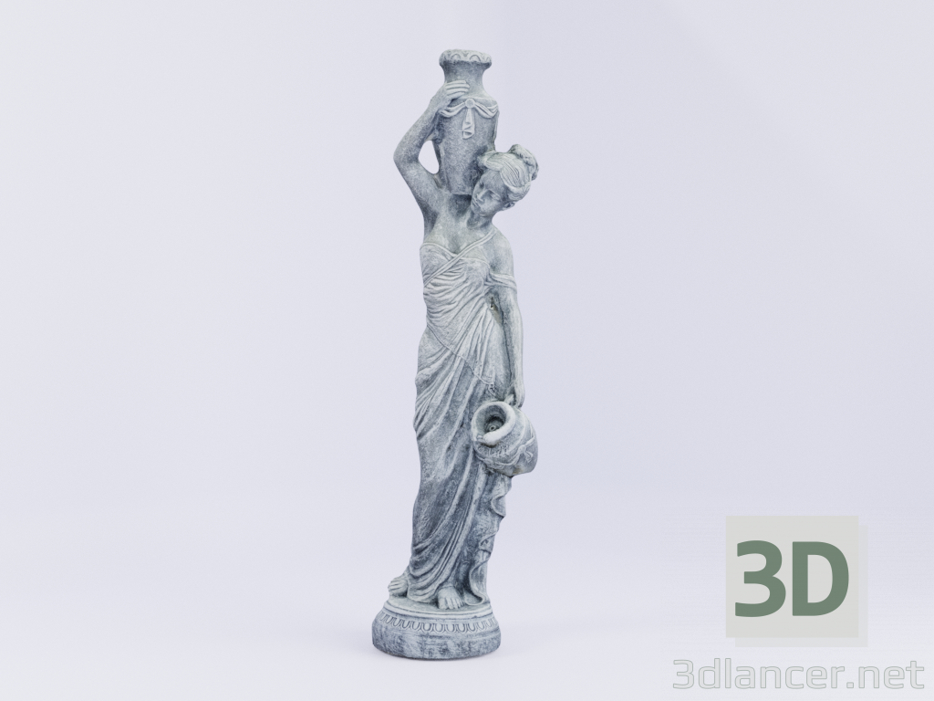 3d model Girl with a jug - preview