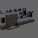 3d model TV unit - preview