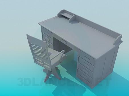 3d моделирование Письменный стол модель скачать бесплатно