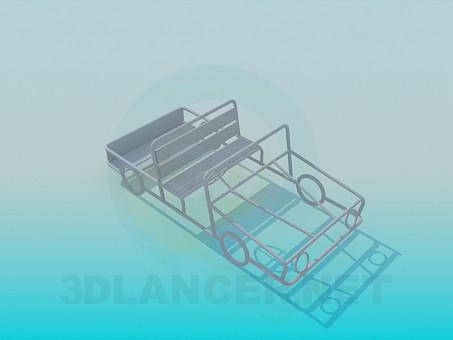 3d моделирование Детская игровая скамья модель скачать бесплатно