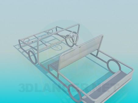 3d модель Машинка на детскую площадку – превью