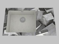 Fregadero de granito de vidrio, 1 cámara con un ala para secar - Edge Diamond Capella (ZSC SB2C)