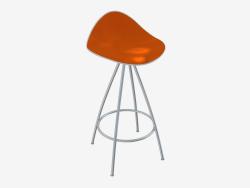 कुर्सी (सफेद नारंगी h66)