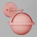 3d Wall lamps Lightstar CROCO model buy - render