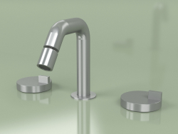 3-hole bidet mixer with adjustable spout (18 37 V, AS)