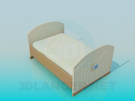 3d modeling Bed for teens model free download