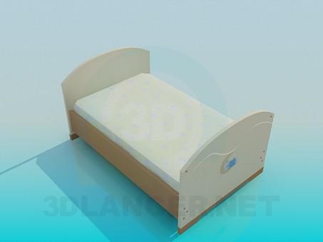 3d модель Кровать для подростка – превью