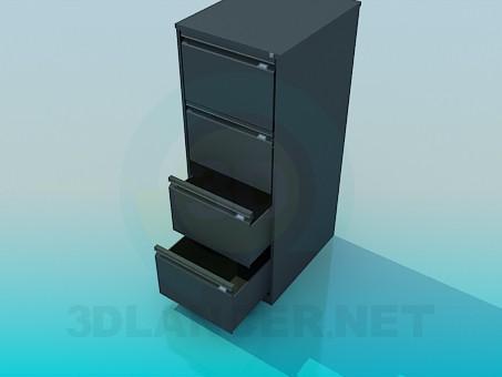 3d model Pedestal con cajones de oficina - vista previa